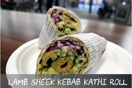Lamb Sheek Kebab Kathi Roll