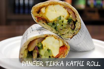 Paneer Tikka Kathi Roll